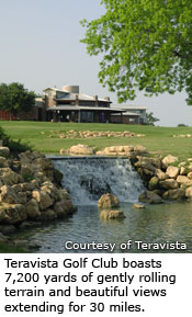 Teravista Golf Club boasts 7,200 yards of gently rolling terrain and beautiful views extending for 30 miles.