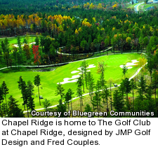 Chapel Ridge is home to The Golf Club at Chapel Ridge, designed by JMP Golf Design and Fred Couples