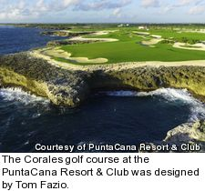 Corales golf course at PuntaCana resort - hole 8