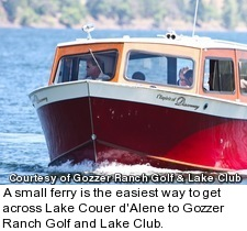 Gozzer Ranch Golf and Lake Club - ferry