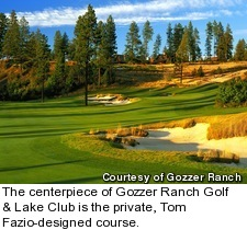 Gozzer Ranch Golf and Lake Club - hole 16