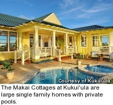The Makai Cottages at Kukui'ula are large single family homes with private pools