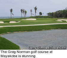 The Greg Norman golf course at Mayakoba is stunning
