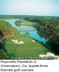 Oconee golf course at Reynolds Plantation - holes 17 and 18