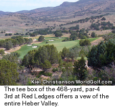 Red Ledges golf course in Utah - hole 3