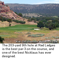Red Ledges golf course in Utah - hole 9