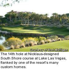 South Shore golf course at Lake Las Vegas - hole 14