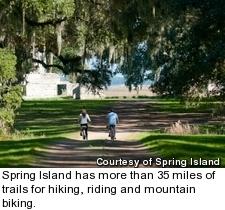 Spring Island - biking