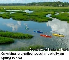 Spring Island - kayaking